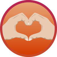 Heart hand vector clipart