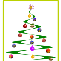Helix Christmas Tree Vector Clipart