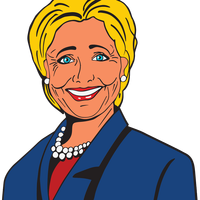 Hillary Clinton Vector Clipart