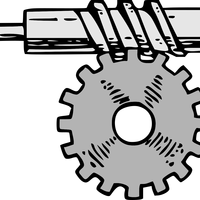 Horizontal Gear Vector Clipart