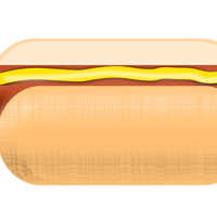 Hot Dog with Mustard Vector Clipart