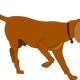 Hunting Dog Vector Clipart