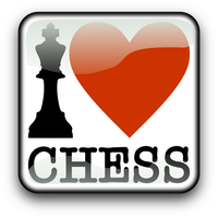 I love Chess Vector Clipart