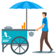 Ice cream stand vector clipart
