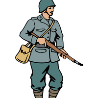 Italian Soldier in World War 2 vector art