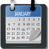 January Calendar Vector Art