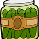 Jar of Pickles Vector Clipart