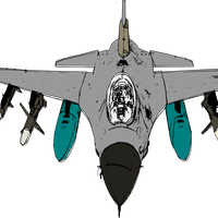 Jet Fighter Vector Art