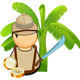 Jungle Explorer Vector Clipart