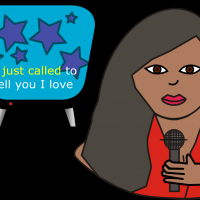 Karaoke Woman vector clipart