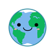 Kawaii Earth Vector Clipart