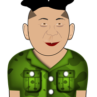 Kim Jong Un in a Green Shirt vector clipart
