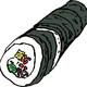 Kimbap Roll Vector Clipart