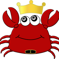 King Crab Cartoon vector files