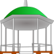 Kiosk with green top vector clipart
