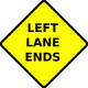 Left Lane Ends Vector Graphics