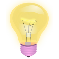 Light Bulb Vector Clipart
