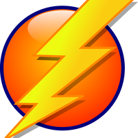 Lightning Orb Energy Icon vector clipart