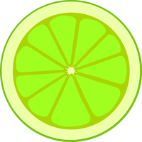 Lime Cross Section Vector Clipart