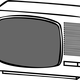 Line art Television vector file
