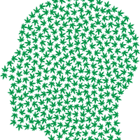 Literal Pothead made of Marijuana Leaves vector clipart