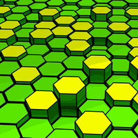 Lots of colored hexagons vector Clipart