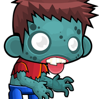 Male Zombie Vector Clipart