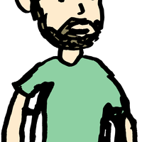Man in a Cast Vector Clipart