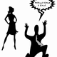 Man in Marriage Trouble with wife vector clipart