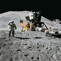Man on the moon of Apollo 15 vector file