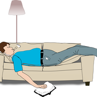 Man Sleeping on couch vector clipart