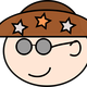 Man with hat with three stars vector clipart
