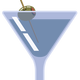 Martini With Olive vector clipart