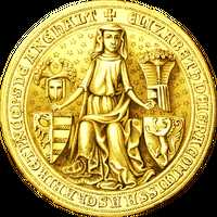 Medieval Coin Design Vector Clipart