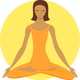 Meditating Buddhist Women Vector Clipart