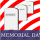 Memorial Day tombstones honoring American veterans
