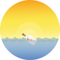 Message in a Bottle Vector Art