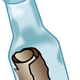 Message in a bottle vector clipart