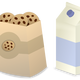 Milk and Cookies Vector Clipart