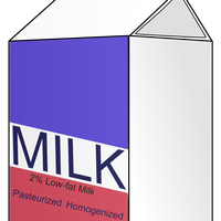 Milk Carton Vector Clipart