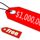 Million Dollar Price Tag Vector Clipart