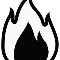 Monochrome Flame Clipart
