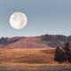 Moonrise over the Lamar Valley Landscape