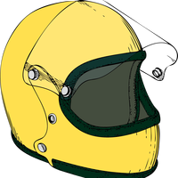 Motorcycle Crash Helmet Vector Clipart