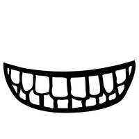 Mouth full of Teeth vector files