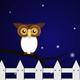 Night Owl Vector Clipart