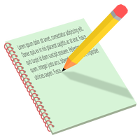 Notebook and Pencil vector clipart