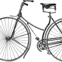 Old Bicycle vector clipart