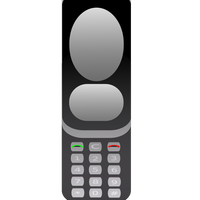 Old Cellphone Vector clipart graphic