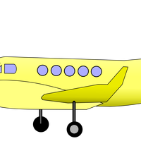 Old Yellow Plane Vector Clipart